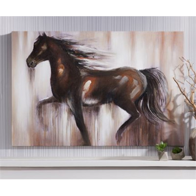 Toile canvas cheval 37 X 47 po